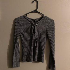Forever21 Crisscross Chest sweater.